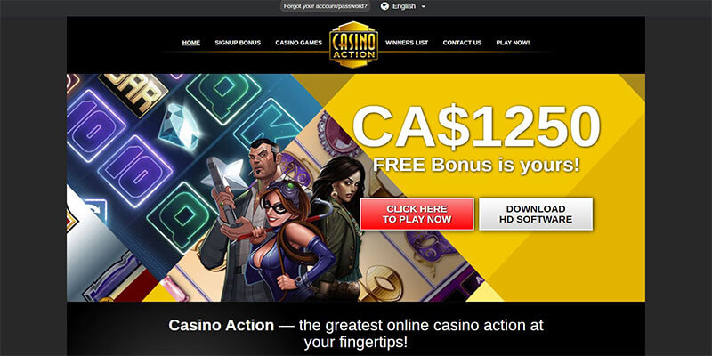 casino action homepage