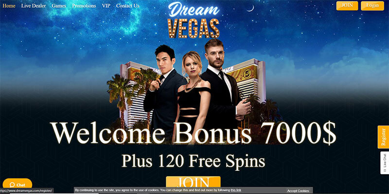 dream vegas homepage