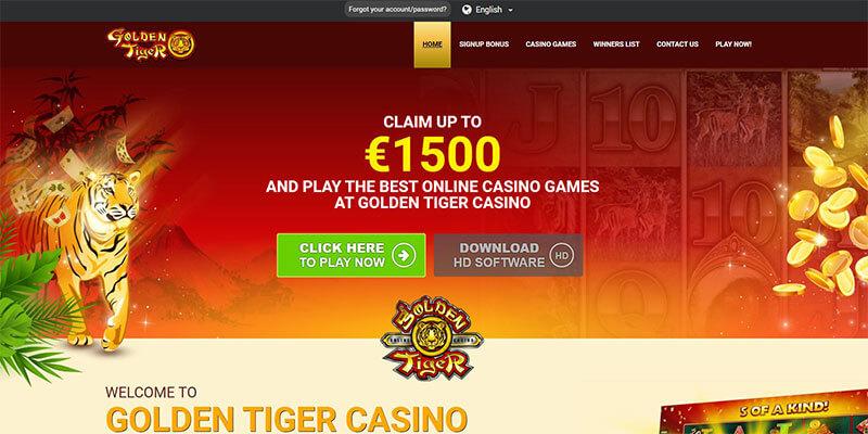 golden tiger homepage