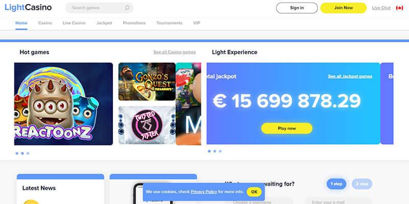 lightcasino homepage