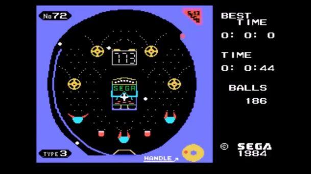 Pachinko SG-1000 game-play screenshot